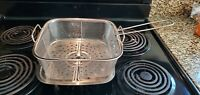 Copper Chef Fry Basket & Steamer for  Square Copper Chef Pan