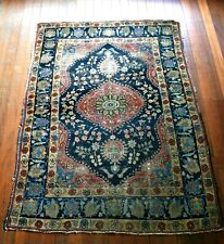 UNUSUAL SIZE  ANTIQUE HAND KNOTTED HERIZ PILE RUG CARPET CIRCA 1920