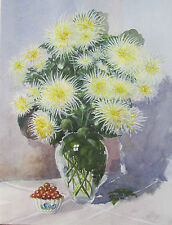 PHILIP WATTS - CHRYSANTHUM - LISTED ARTIST PAINTING - FREE SHIP IN THE US !!!