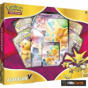 Pokemon Alakazam V Box Collection New & Sealed | Inc Booster Packs & Promo Cards