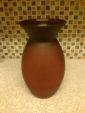 Rouge espagnole vase en verre 11 in (environ 27.94 cm) Tall