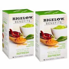 Bigelow  Benefits  Refresh  Turmeric Chili Matcha Green Tea  2 Box X 18 Tea Bags
