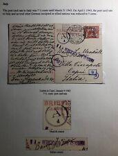 1942 Leiden Netherlands Postcard Censored Cover To Capri Italy