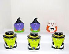 RONALD & PALS HAUNTED HALLOWEEN Candy Dispensers~1998 McDonald Toys # 1, 4, & 6