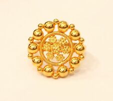 22k 22kt solid  gold ring handmade  India ( FREE RESIZE ) #36