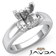 Diamond Engagement European Shank Ring Platinum 950 Princess Semi Mount 0.35Ct