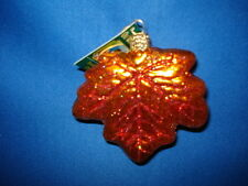 Maple Leaf Ornament Glass Old World Christmas 48022 2