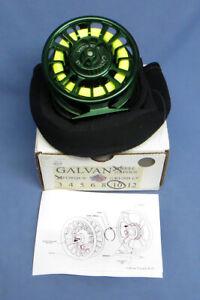 Galvan Torque T-8 Fly Reel - Color Green - MIB w/Case & Instructions