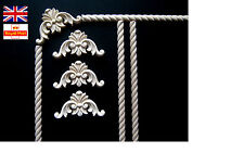 SET OF1 METER ROPE MOULDING + 4 CORNER APPLIQUES SHABBY CHIC WOODEN CORNER ONLAY