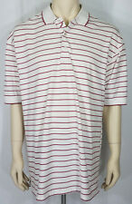 Ping white red striped casual short sleeve golf polo shirt mens XL X-Large