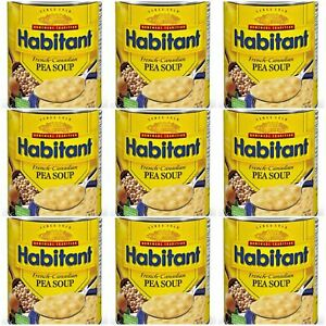 9 Cans Habitant French Canadian Pea Soup 796ml/ 28oz Each Canada FRESH DELICIOUS