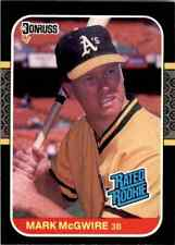 1987 Donruss Rated Rookie Mark McGwire RC A's #46 Mint