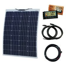 100W 12V Aluminium Reinforced Semi-Flexible Dual Battery Solar Charging Kit