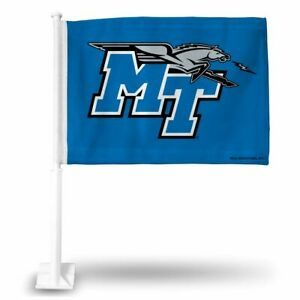 Middle Tennessee St Blue Raiders 11x14 Window Mount 2-Sided Car Flag