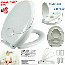 Luxury Child Family Friendly Soft Close Toilet Seat Potty 3in1 Top Fixing Hinges