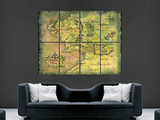 Middle Earth Map Lord of the Rings Poster Wall Art Photo Imprimé Large