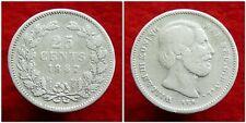 Netherlands - Zeldzame 25 Cent 1887 Nette Kwaliteit