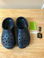 Crocs (men 8/women 10) Navy Blue NEW WITH TAGS.