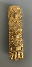 Gold Tone Tekoteko maori Totem Replica Brooch Pin