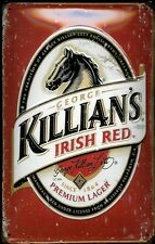 Killian's Irish Red Lager Beer Drink Pub Bar Hotel Medium 3D Metal Embossed Sign