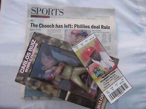 Philadelphia Phillies C Carlos Ruiz Bobble Figurine 06-04-13 Gameday Giveaway