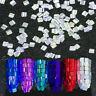 3D Colorful Nail Art Glitter Rhinestone Flake Square Manicure Nail Art Decor