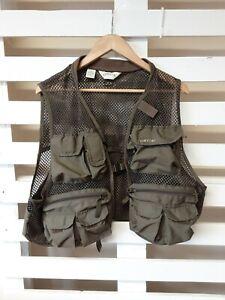 Orvis Men's Vest Mesh Top Size M Khaki Hunting Fishing