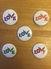 Coldplay Love Badge A Head Full Of Dreams Tour. Set Of Five