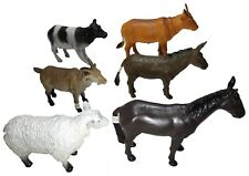 Set of 6 Large Realistic Farm Animals Figures 6 to 7 Inches