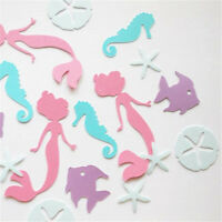100pcs Mermaid Colorful Table Paper Confetti Baby Girl Birthday Party Decor