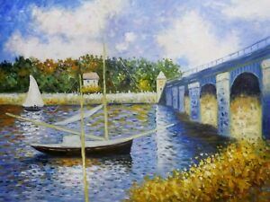 The Bridge at Argenteuil Oil Painting Reproduction Rolled Canvas - Claude Monet