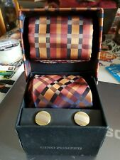 gino pompeii tie cufflink and pocket square set