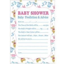 10x A5 Baby Shower Decor Prediction Advice Game Card Party Tableware Boys Girls
