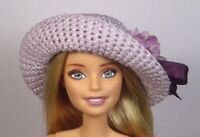 'LILAC LUSTER' one of a kind (OOAK) handmade Hat only for Barbie
