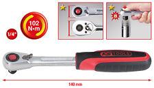 """KS Tools 1/4"""" SlimPOWER carraca reversible, 72 DIENTE 920.1490"""