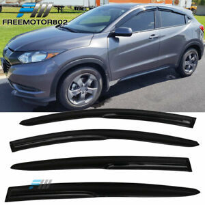 Fits 16-21 Honda HRV Mug Style Acrylic Window Visors Rain Sun Guard Deflector