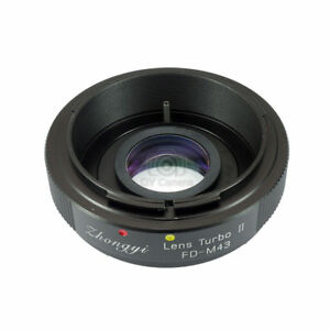 Upgraded version Lens turbo II adapter for Canon FD lens to M4/3(MFT) BMPCC OM-D
