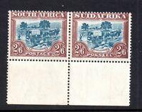 South Africa 1927 2s 6d mint LHM Margin Bilingual Pair SG37 P14 WS18405