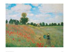Poppyfield - Claude Monet - Fine Art Giclee Print Poster (Various Sizes)