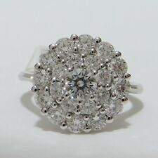 Cluster Excellent Cut Round VS2 Fine Diamond Rings