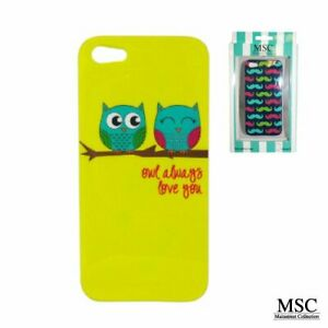MAINSTREET OWL LOVE IPHONE 5 TRENDY COVER PHONE RUBBER CASE SNUG FIT GIFT