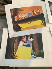 Walt Disney Snow White & the Seven Dwarfs Promo Lithograph Set 4 & Cover 2001