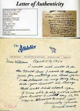 CONNIE MACK JSA Autograph 1954 A`s Letter Authentic Hand Signed