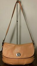 COACH Flap Legacy Peach Classic Flap Leather Hobo Shoulder Medium Bag F15170