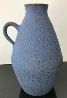 DUTCH HOLLAND Mid Century Modern Ovoid Jug Lava Glaze Vibrant Blue FLAWLESS