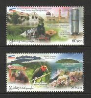 MALAYSIA 2018 TORIST DESTINATION SERIES SABAH COMP. SET OF 2 STAMPS IN MINT MNH