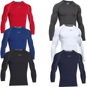 Under Armour Mens Compression Long Sleeve Shirt Heatgear Winter Baselayer Top