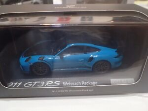 Porsche 911 GT3RS Weissach Package Miami Blue  No.0049/1911; WAP0201610J / 1:43