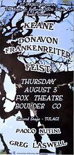 Keane – Donavon Frankenreiter – Feist 2006 Concert Poster