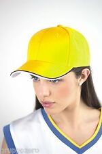 ATLANTIS cappello PILOT PIPING baseball sandwich gialloblu PARMA VERONA hats $